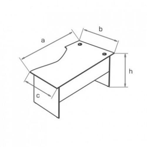 Стол рабочий эргономичный BS150, BS170