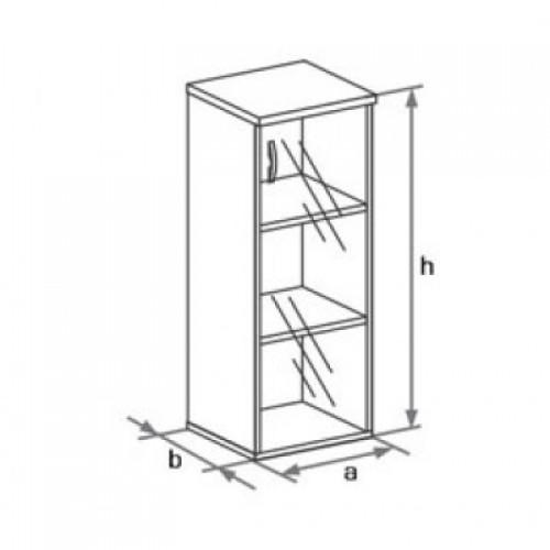 Шкаф (стеклянная дверь) 3-го уровня DH3-004