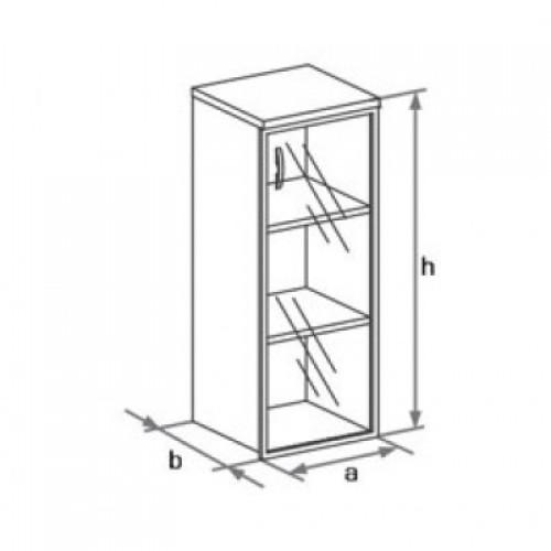Шкаф (стеклянная дверь в раме) 3-го уровня DH3-005