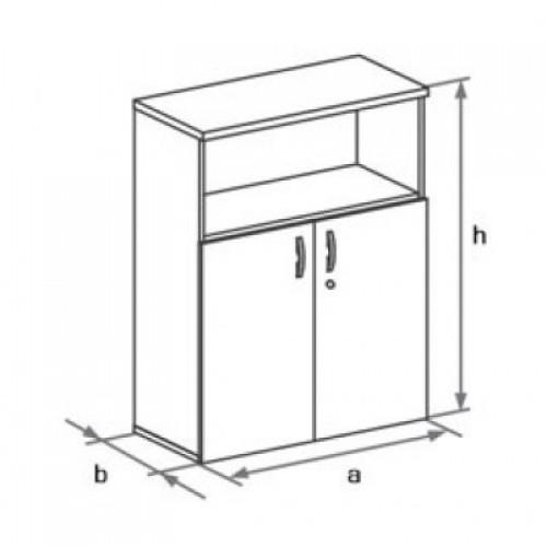 Шкаф (глухие двери) с нишей 3-го уровня DH3-022