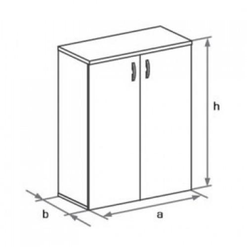 Шкаф (глухие двери) 3-го уровня DH3-023