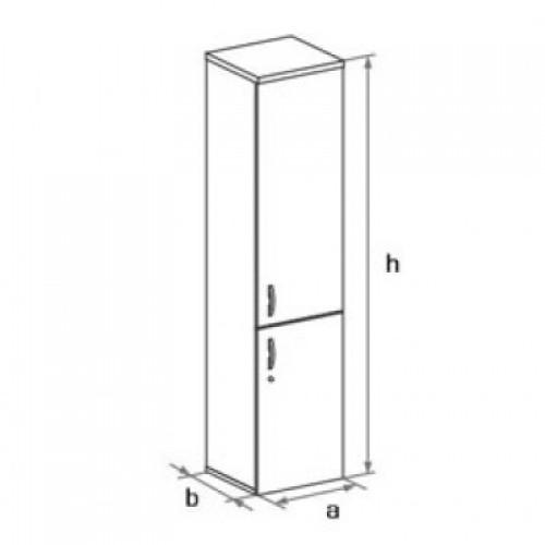 Шкаф узкий (глухие двери ) 5 -го уровня DH5-004