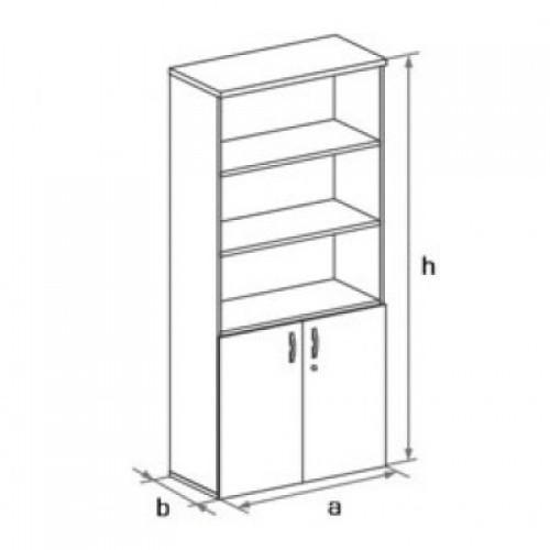 Шкаф (глухие двери) с нишами 5-го уровня DH5-022