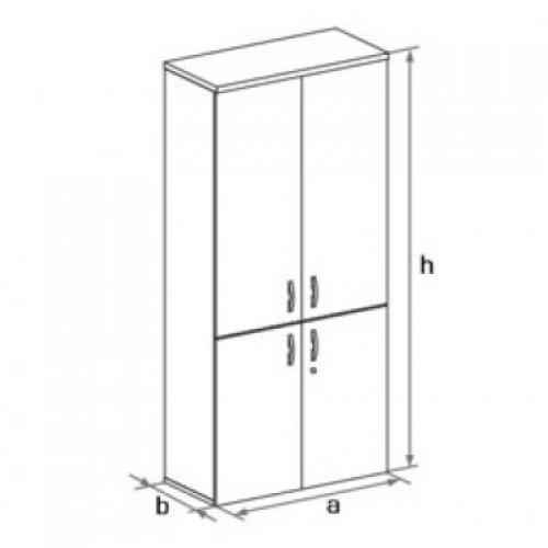 Шкаф (глухие двери ) 5 -го уровня DH5-024