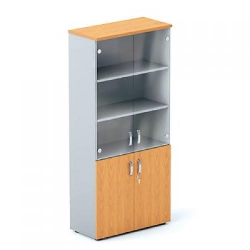 Шкаф (глухие двери+стеклянные двери) 5-го уровня DH5-025