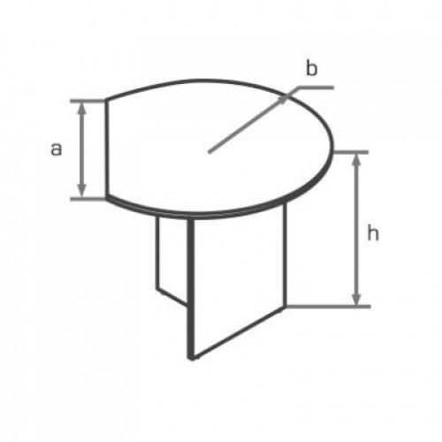 Приставка полукруглая брифинг-приставка для стола DK100