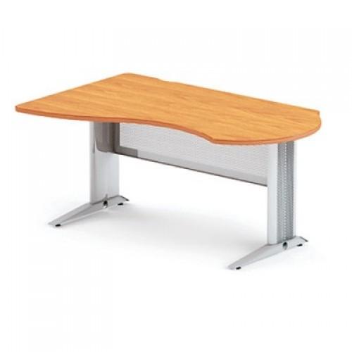 Стол письменный угловой на L-образном металлическом каркасе DL