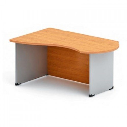 Стол письменный угловой на ДСП каркасе с низкой передней панелью DN