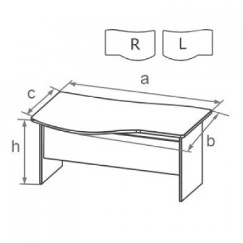 Стол с высокой передней панелью DS
