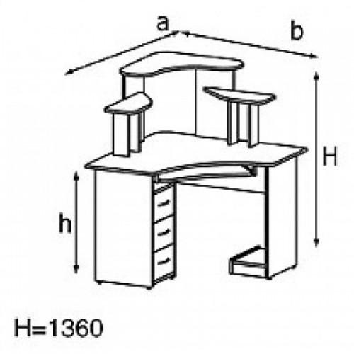 Стол компьютерный KS14-6e