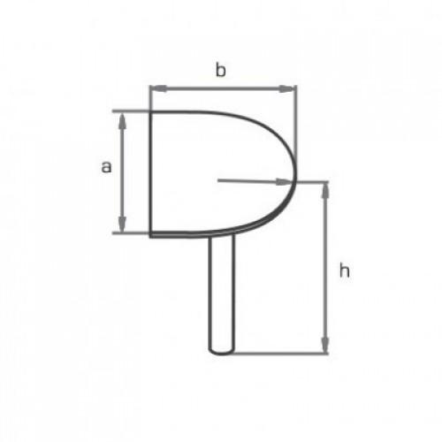 Приставка полукруглая торцевая для стола KK180