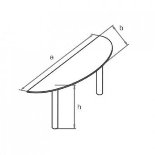 Приставка торцевая с металлическими опорами KO180