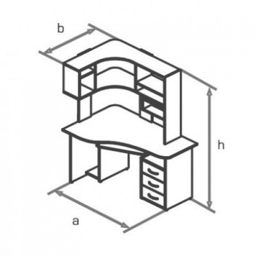 Стол компьютерный KS14-1L/Re