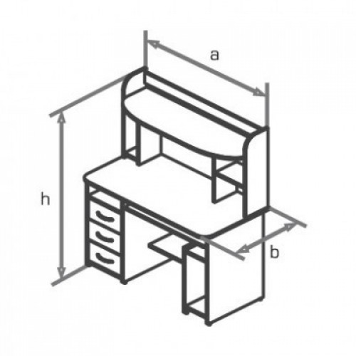 Стол компьютерный KS14-22e
