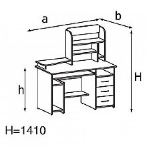 Стол компьютерный KS14-2e