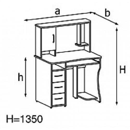 Стол компьютерный KS14-4e