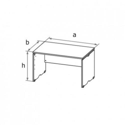 Стол письменный симметричный (ДСП каркас) МА6