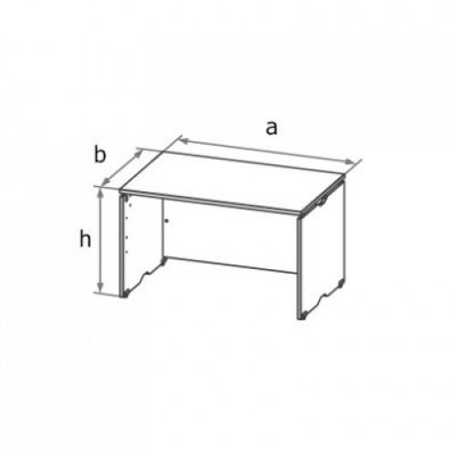 Стол письменный симметричный (ДСП каркас) МА2