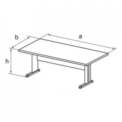 Стол письменный симметричный (L образный каркас) МА3