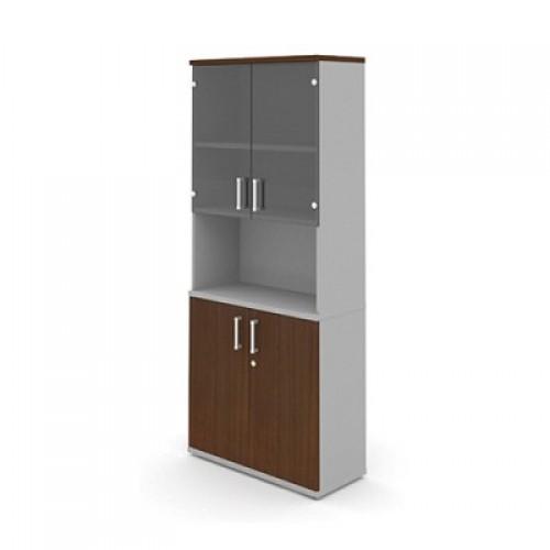 Шкаф (глухие двери + стеклянные двери) с нишей 5-го уровня MM5-025