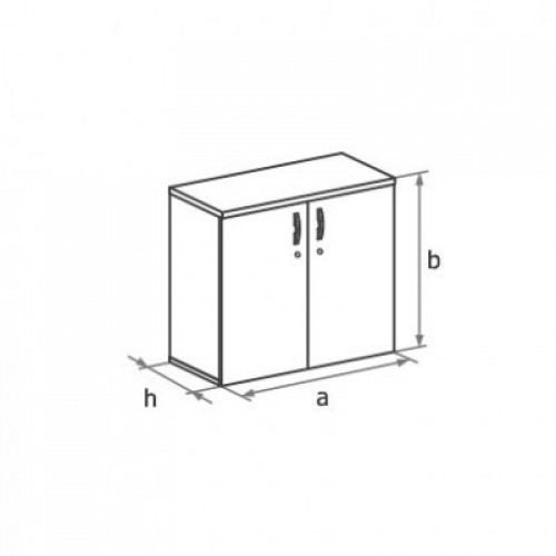 Шкаф (глухие двери) 2-го уровня MM2-022
