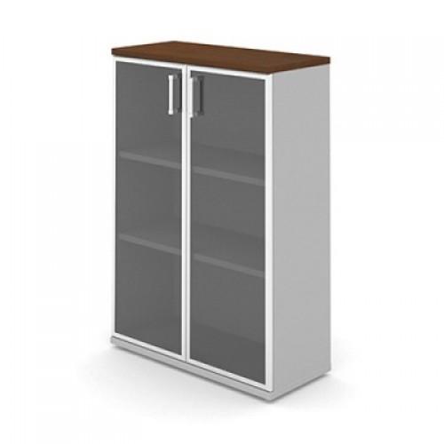 Шкаф (стеклянные двери в раме) 3-го уровня MM3-026