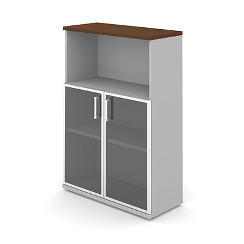 Шкаф (стеклянные двери в раме) 3-го уровня MM3-027