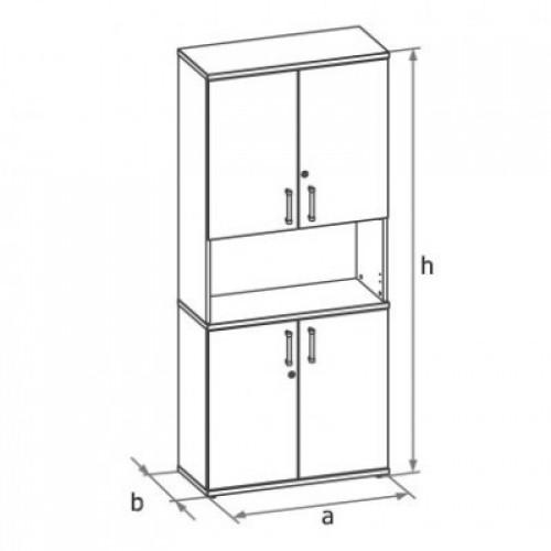 Шкаф (глухие двери с нишей) 5-го уровня MM5-023
