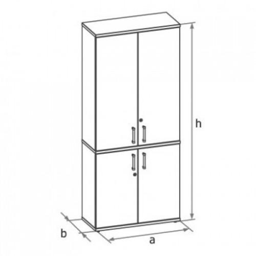 Шкаф (глухие двери) 5-го уровня MM5-024