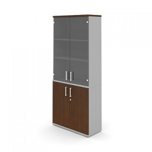 Шкаф (глухие двери + стеклянные двери) 5-го уровня MM5-026