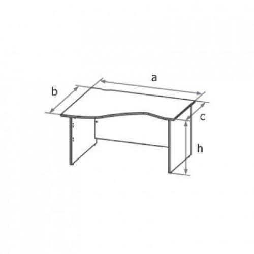 Стол письменный ассиметричный MQ,MS