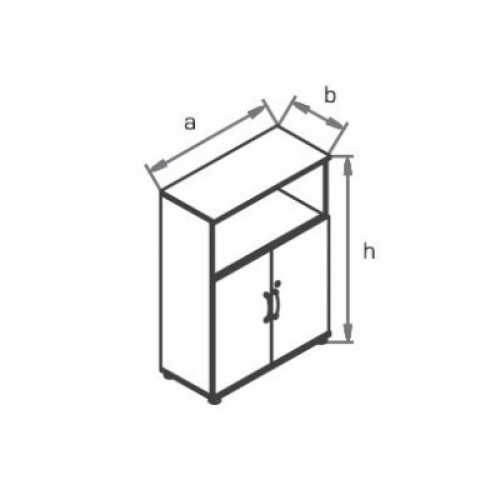 Шкаф (глухие двери)c нишей R3S02