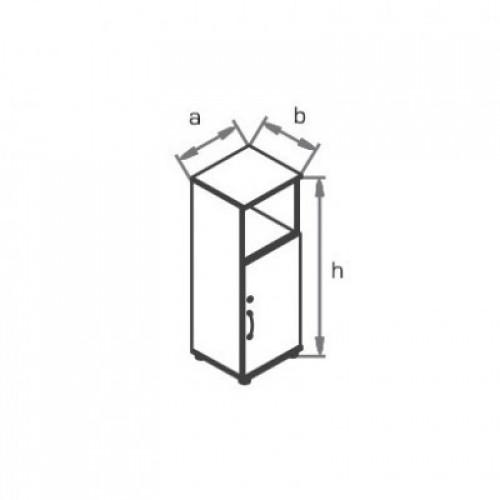 Шкаф узкий (глухая дверь) с нишей R3W02