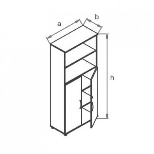 Шкаф (глухие двери) с нишами R5S03