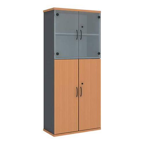 Шкаф (глухие двери + стеклянные двери) R5S13