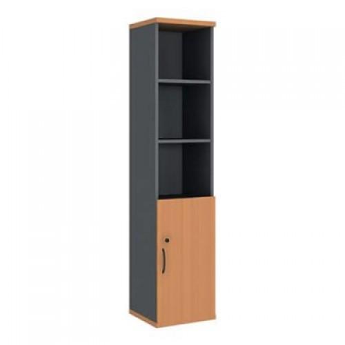 Шкаф узкий (глухая дверь) с нишами R5W02
