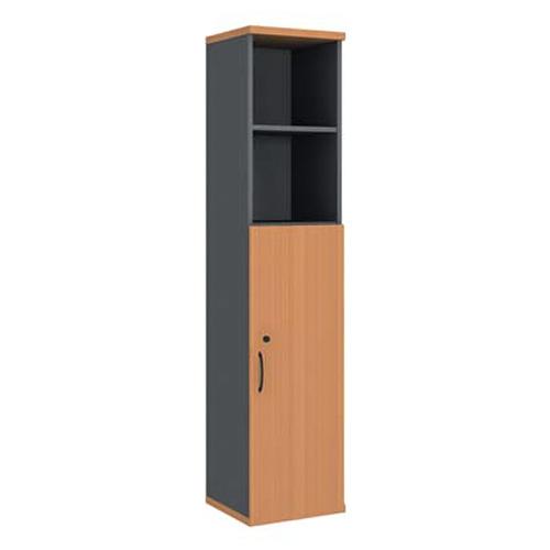 Шкаф узкий (глухая дверь) с нишами R5W03