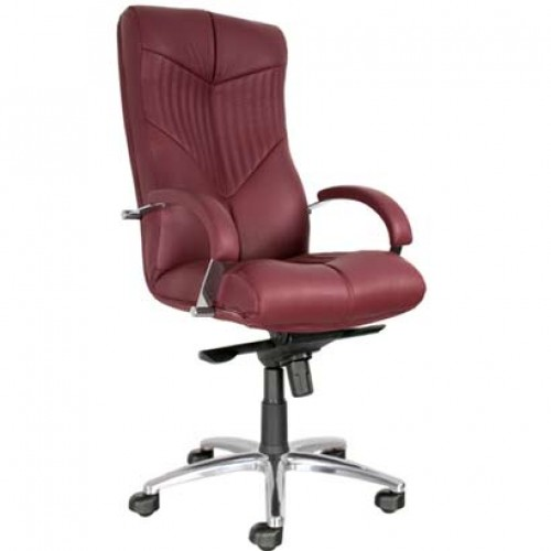 Торус стил хром кожаное кресло Torus Steel Chrome