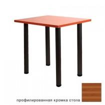 DT-6 Black стол квадратный (круглая опора)