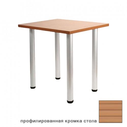 DT-6 Silver стол квадратный (круглая опора)
