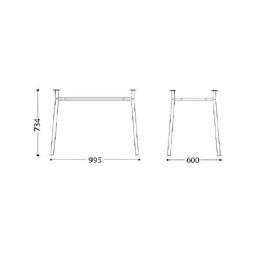 Тирамису Дуо хром комплект ножек для стола Tiramisu Duo chrome