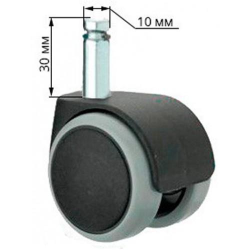Ролики для кресла (стула) прорезиненные (диаметр 11мм, 5 штук)