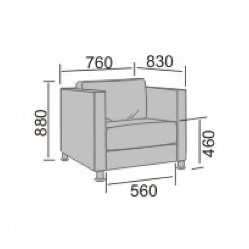 Дельта-1 диван офисный