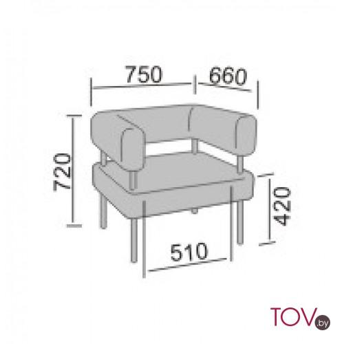Кантор-1 диван офисный