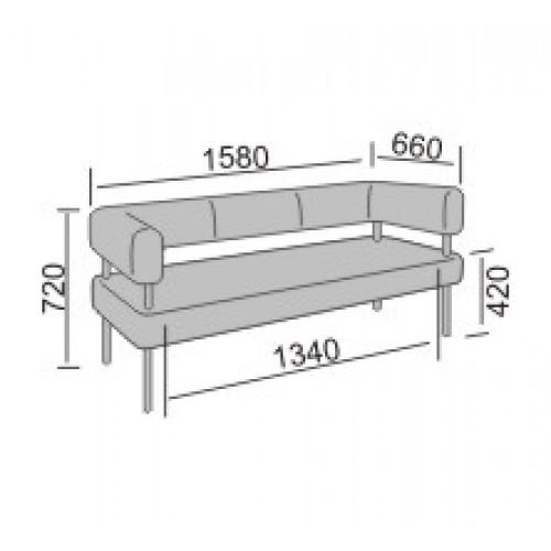 Кантор-3 диван офисный