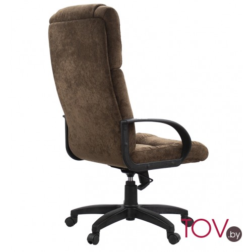 "Кресло ""Консул пластик"" из ткани ""Пирл 007"" коричневого цвета"