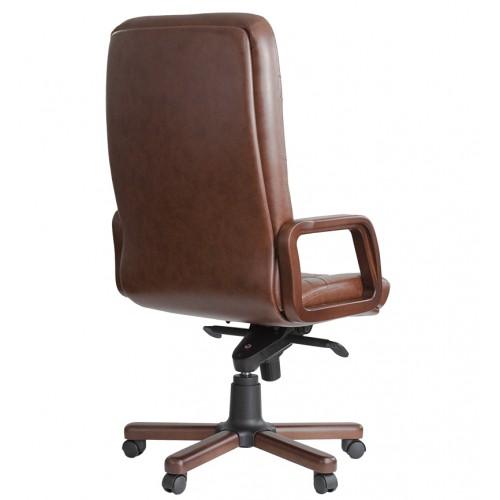 """Кресло """"Министр Экстра"""" из кожи коричневого цвета"""