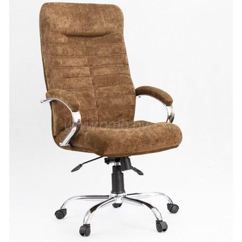 """Кресло """"Орион Хром"""" из ткани """"Пирл 108"""" коричневого цвета"""