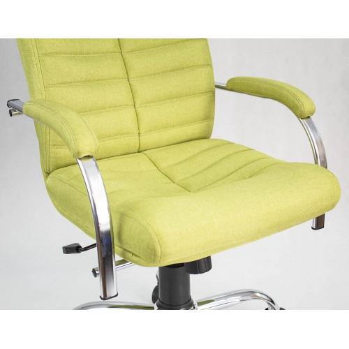 """Кресло офисное """"Орион Дельта"""" из ткани """"Бит 17"""" зеленого цвета"""