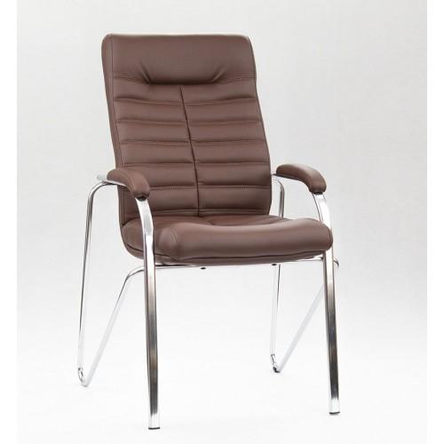 """Кресло """"Орион Дельта"""" из эко-кожи """"Трикс 26"""" коричневого цвета"""